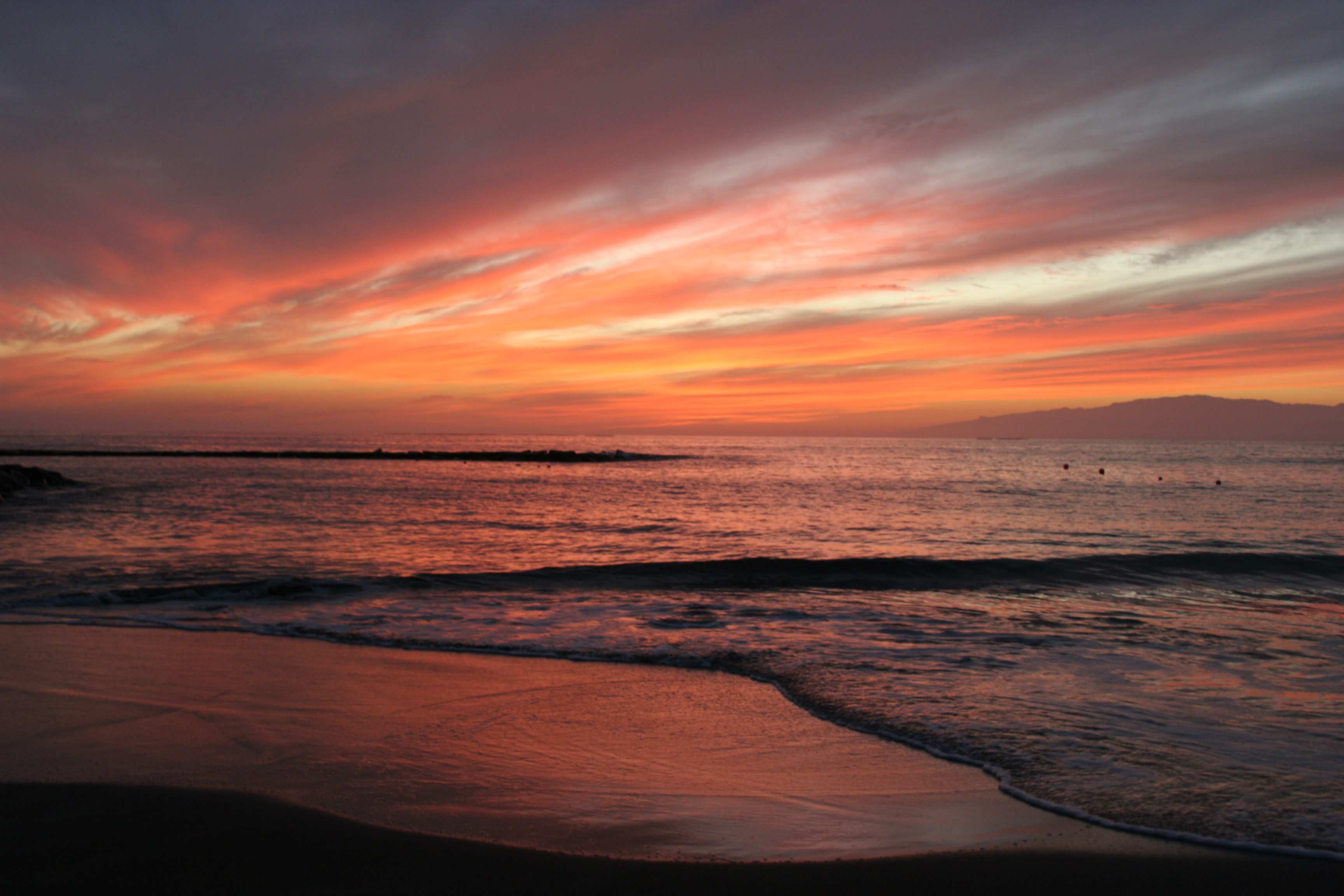 Fanabe Beach Sunset HD Wallpaper | Nature Wallpapers