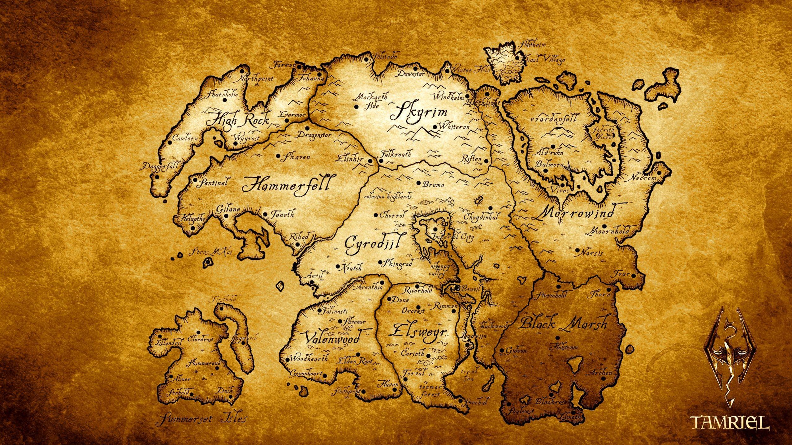 Tamriel Map Wallpaper 55 images 2559x1439