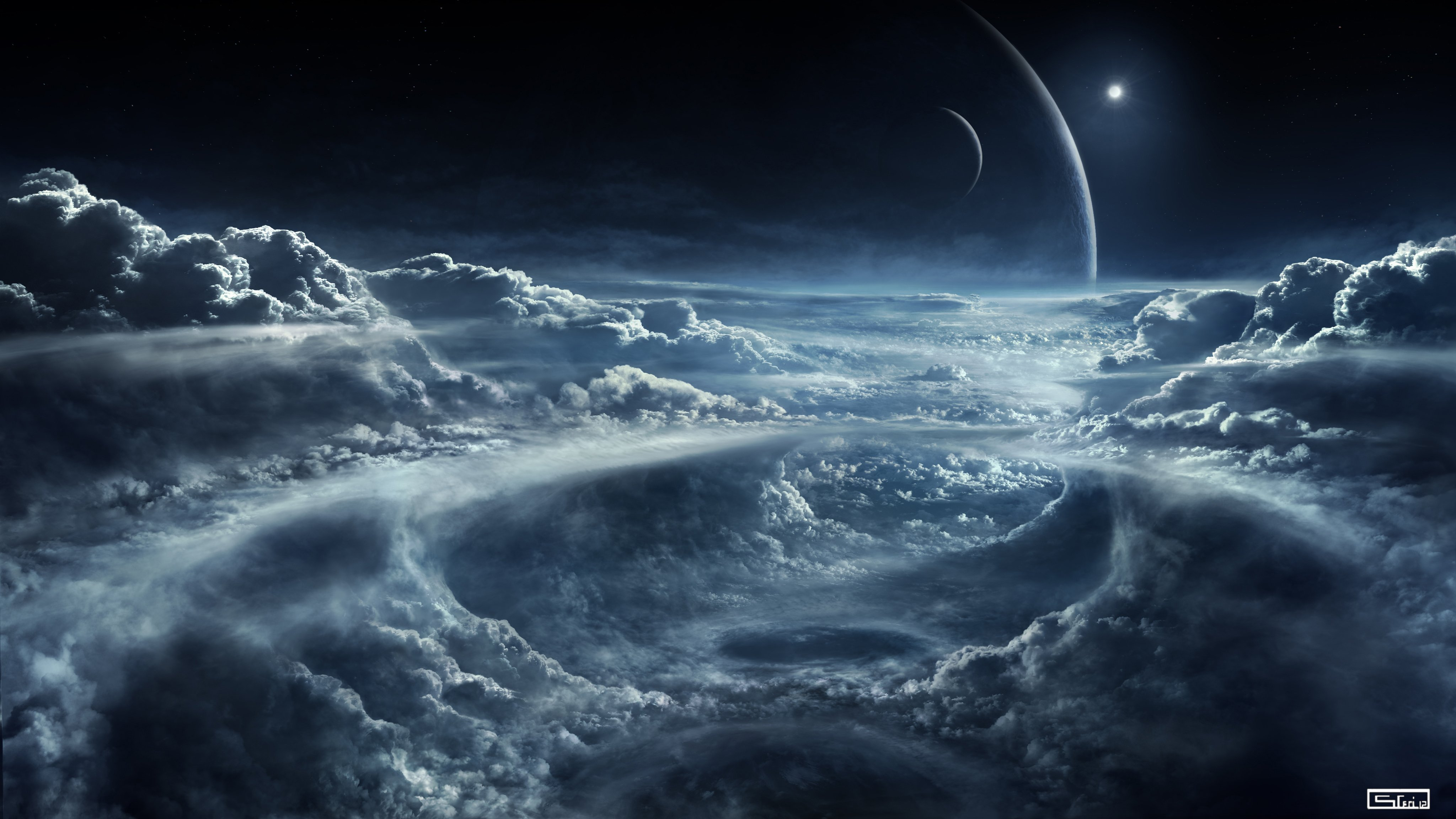 4K Space and Clouds Wallpaper 4K Wallpaper   Ultra HD 4K Wallpapers 4096x2304