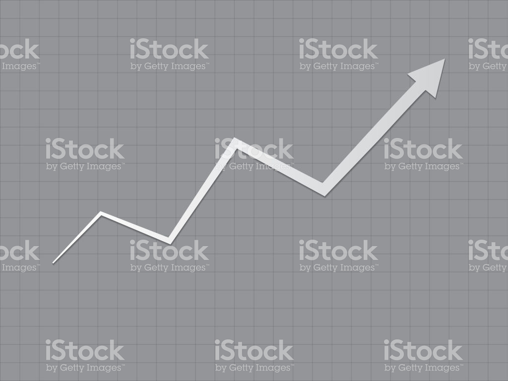 A Cool And Simple Black And White Upward Trend Growth For Success 1024x768