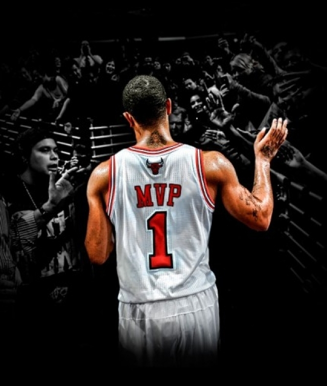 Derrick Rose MVP wallpaper for iphone 4 640x755