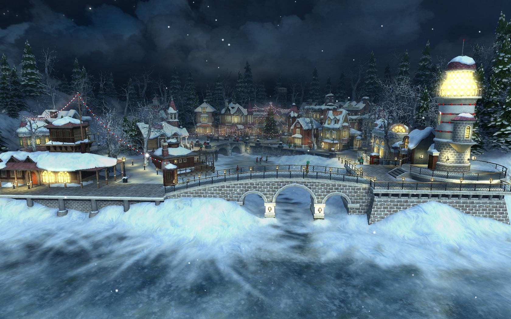 Christmas Village Wallpapers 1680x1050