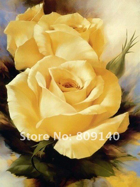 Wallpapers Yellow Flowers Painting 490x652