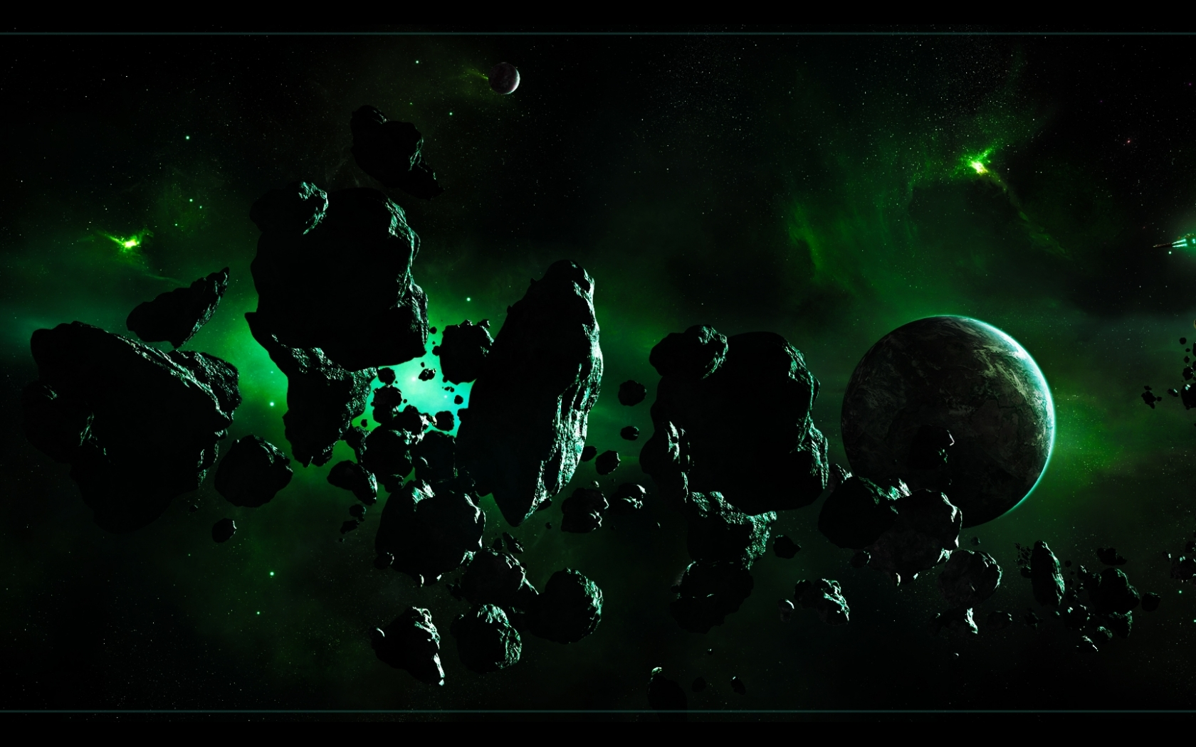 space planets dual screen 3840x1080 wallpaper Wallpaper 1680x1050