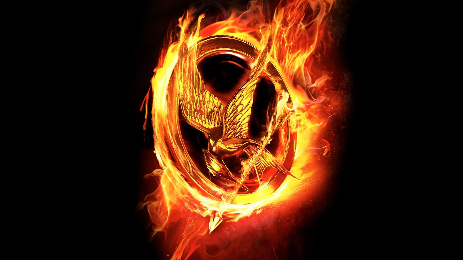 1920x1080 Hunger Games Fire Logo desktop PC and Mac wallpaper 1920x1080