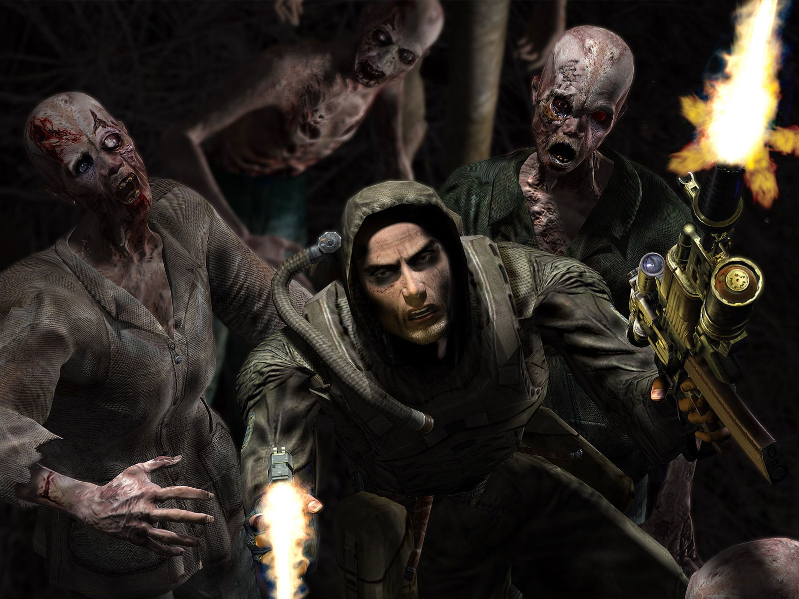 Scary Wallpaper   Zombie Scary Wallpapers 1600x1200