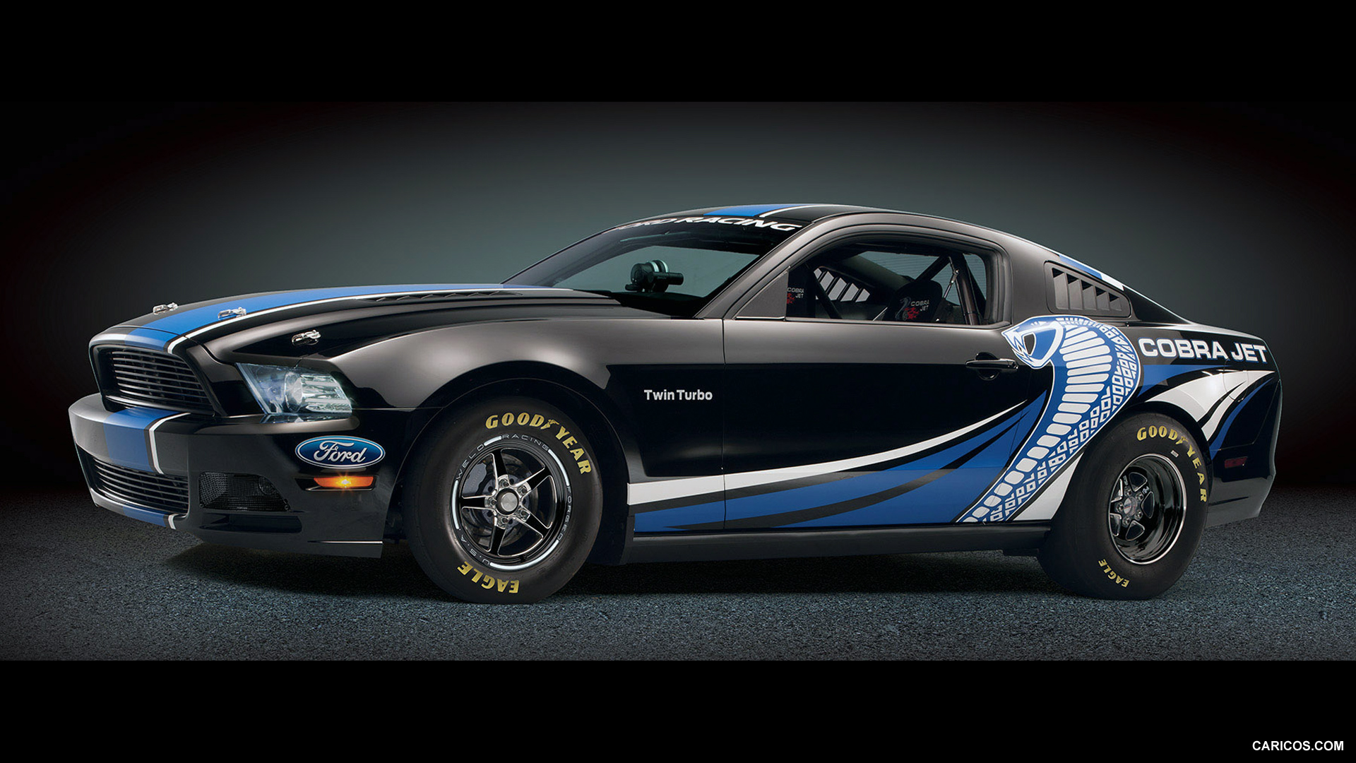 2012 Ford Mustang Cobra Jet Twin Turbo Concept Black   Side HD 1920x1080