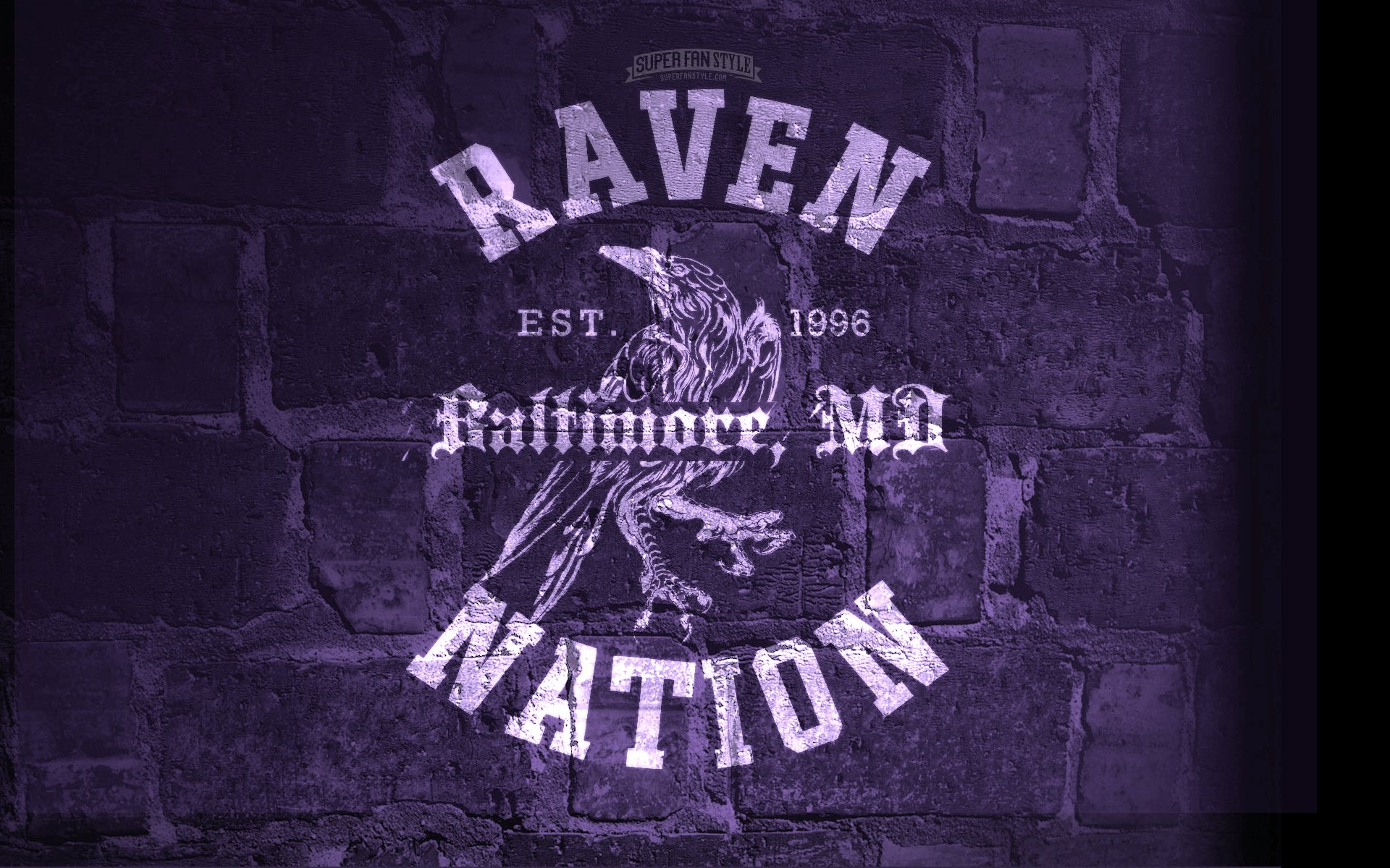 Ravens Desktop Wallpaper Super Fan Style 1920x1200