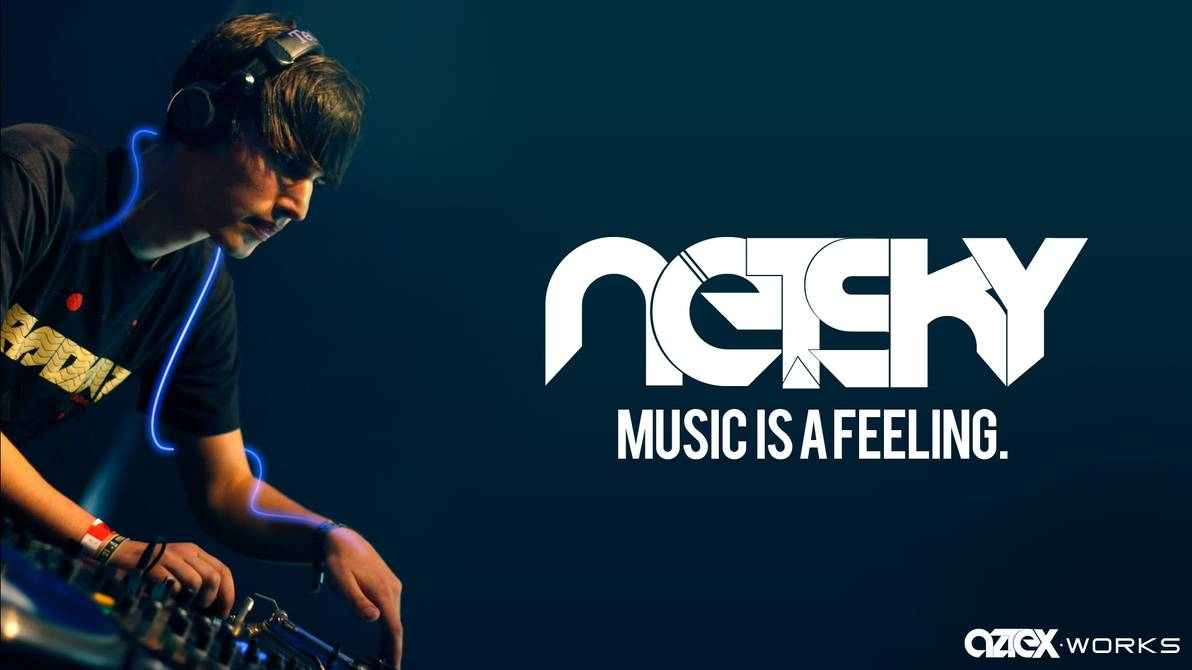 Fan picture wallpaper for Netsky with our logo by aztexsc on 1192x670