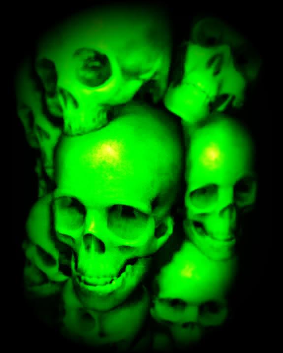 Green Skull Wallpaper Hd Green skulls image 575x717