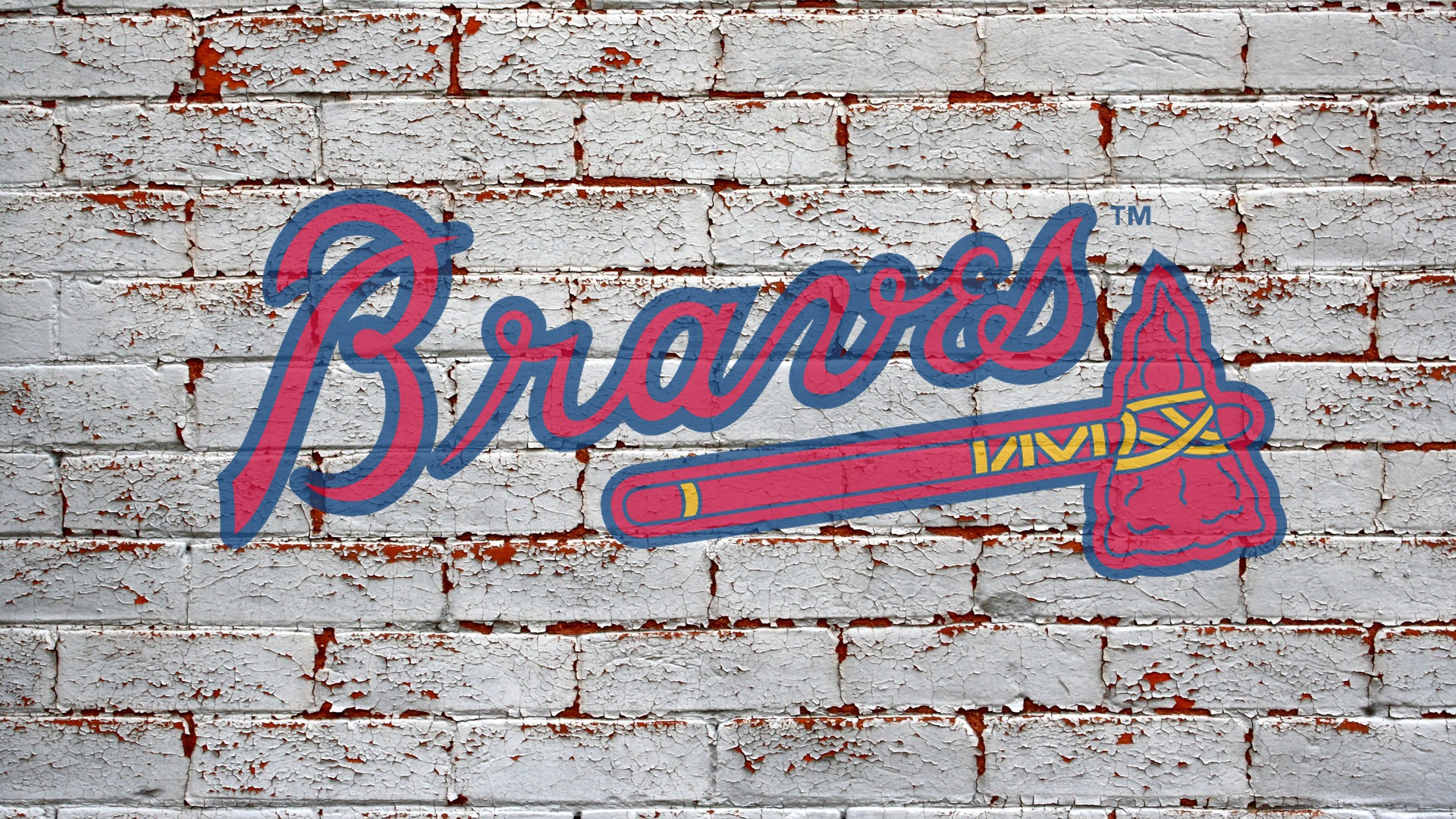 brick wallpaper grey logo atlanta braves 1920x1080 1920x1080