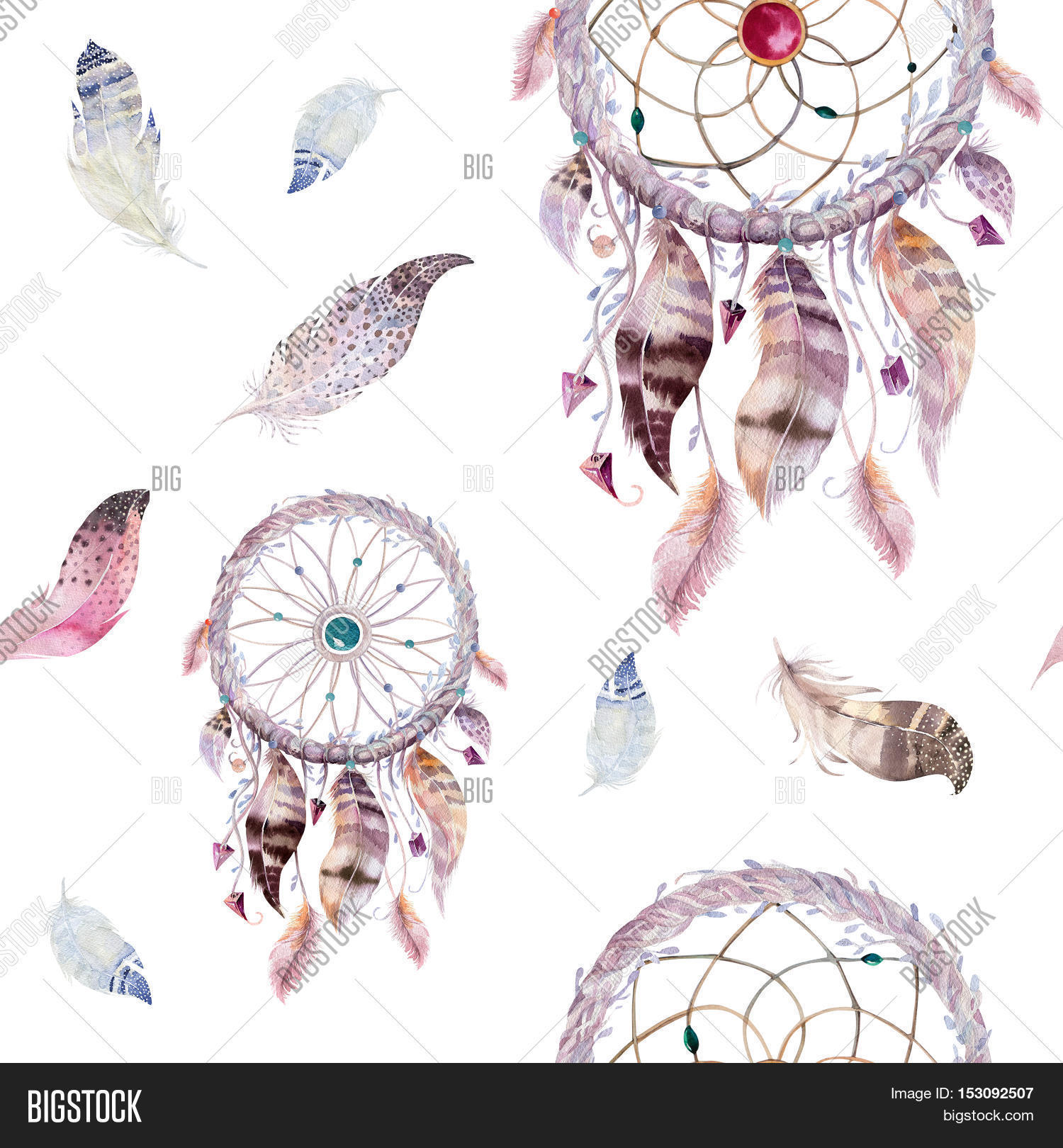 Dreamcatcher Feather Image Photo Trial Bigstock 1500x1620