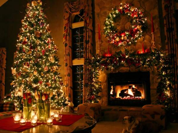 My Home Reference christmas tree fireplace screensaver My Home 600x450