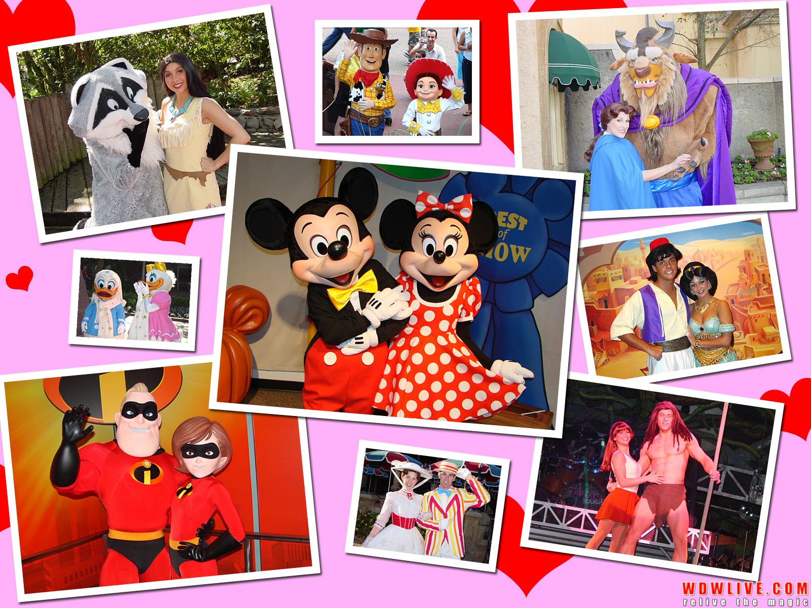 Disney Valentines Wallpaper Disney valenti 1600x1200