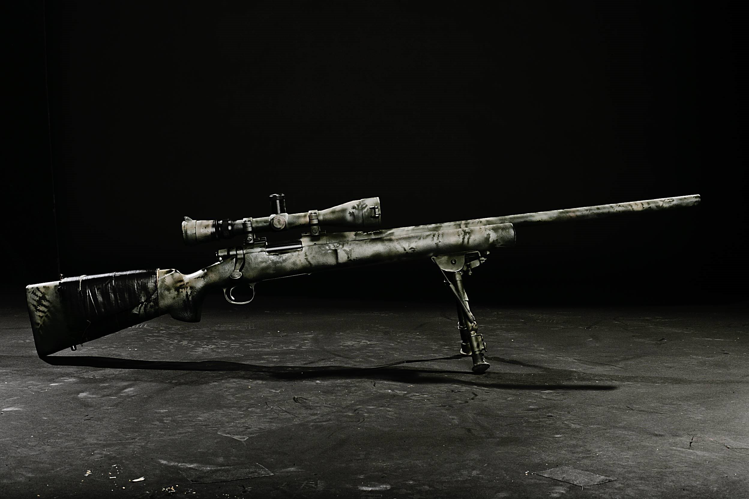Download wallpaper sniper rifle with ACOG Scope download 2496x1664