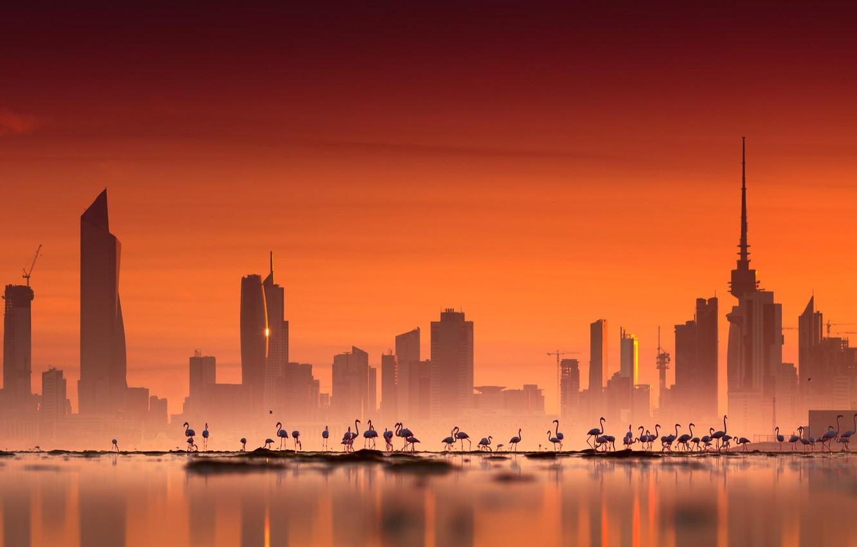 Wallpaper city sky photography sea landscape sunset water 1332x850