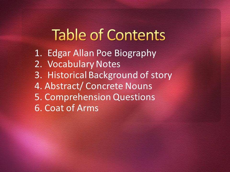 1Edgar Allan Poe Biography 2Vocabulary Notes 3Historical 960x720
