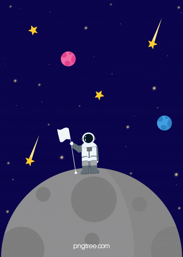 Color Cartoon Hand Drawn Space Astronaut Universe Background 640x897
