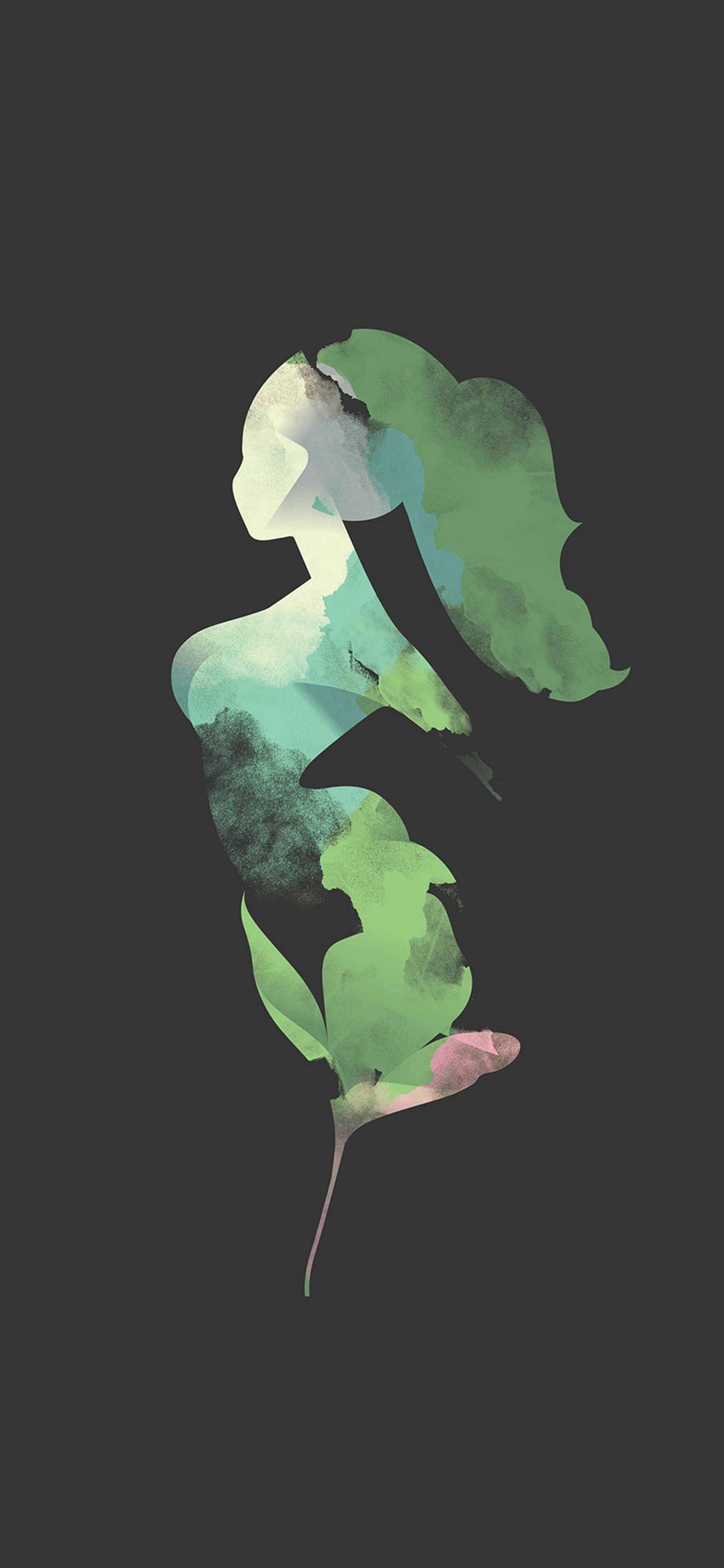 Flower Dark Woman Illustration Art iPhone X Wallpapers Download 1125x2436