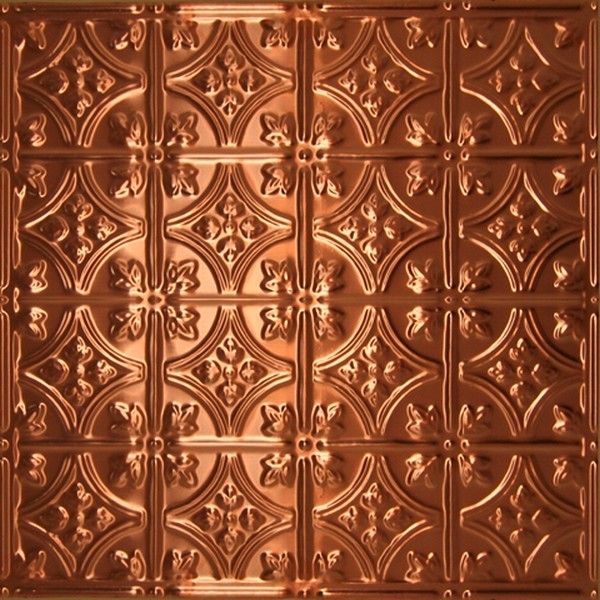 0604 Solid Copper Ceiling Tile   2ft x 2ft  wallpaper 600x600