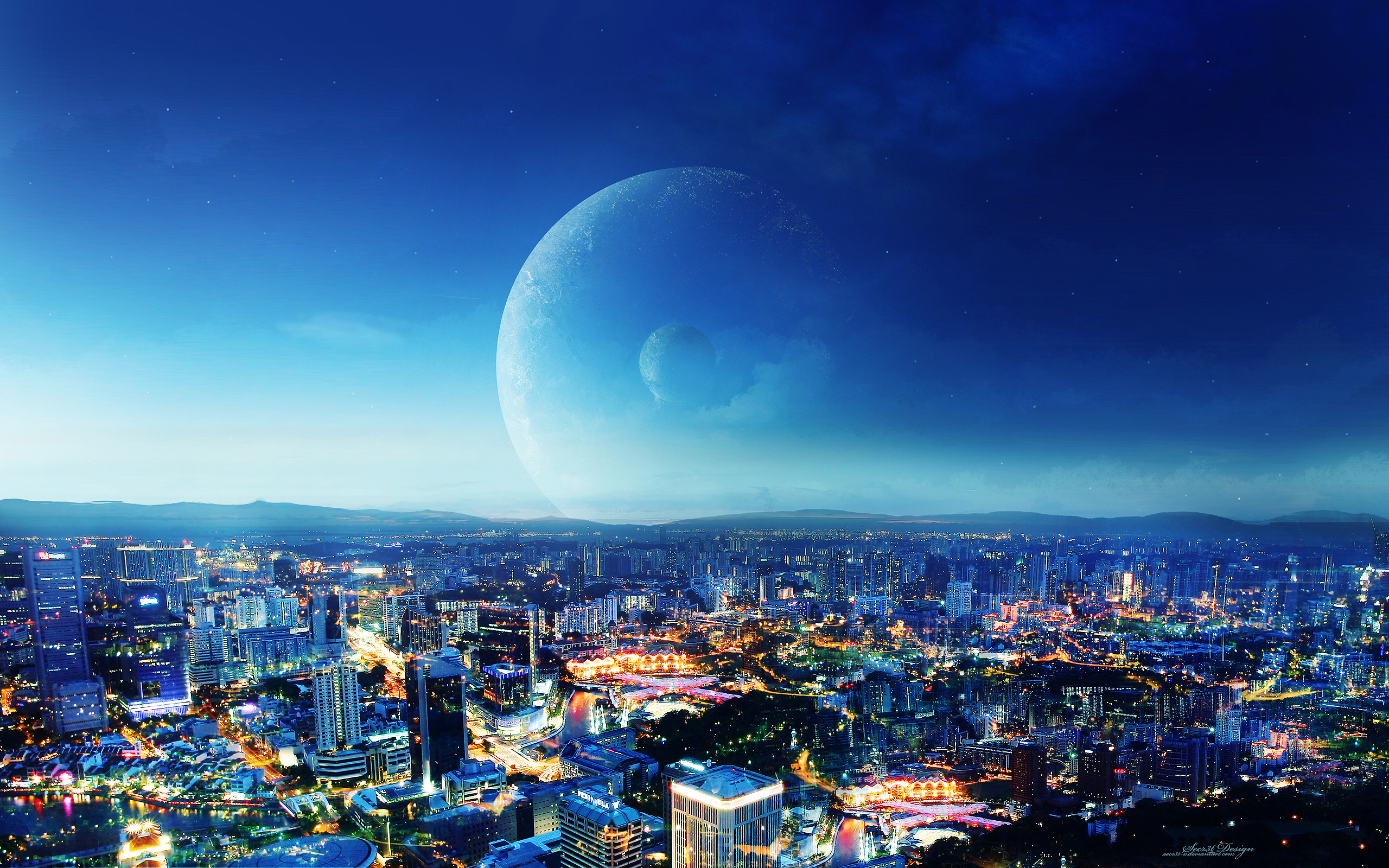 CIty Night Fantasy Wallpapers HD Wallpapers 2560x1600