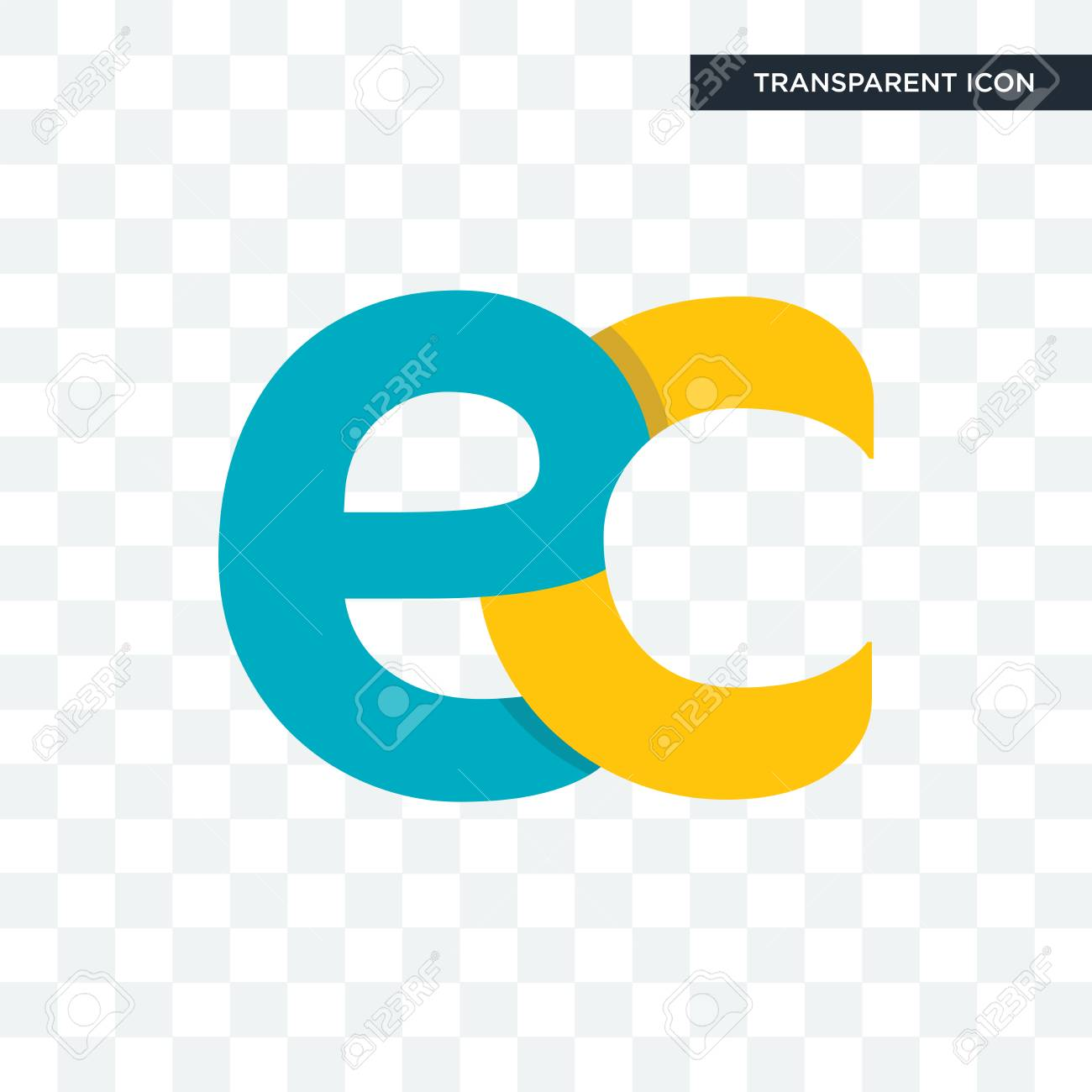 Ec Vector Icon Isolated On Transparent Background Ec Logo Concept 1300x1300