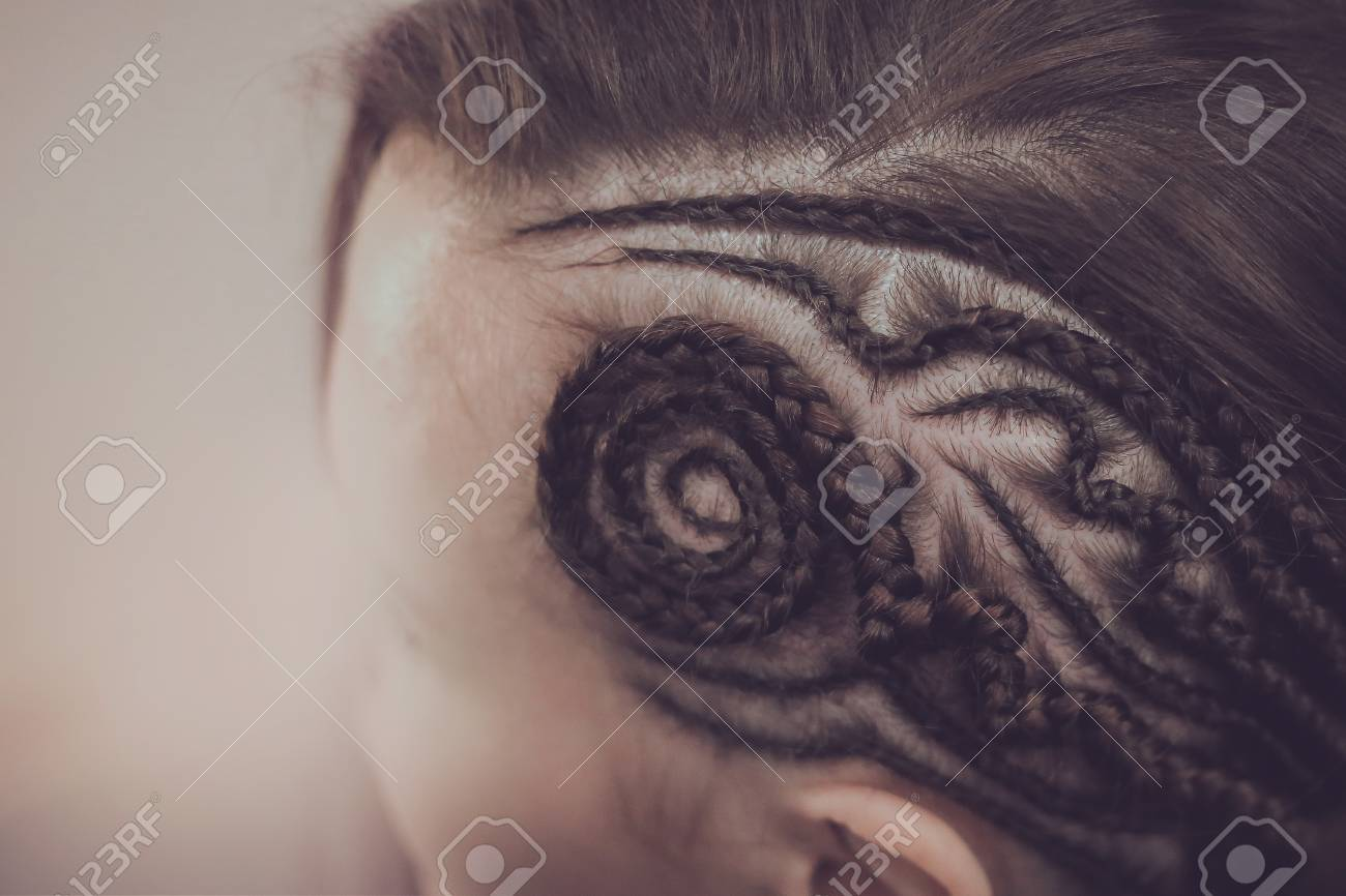 Background Pattern Of Braids Braided Hair Close up Art 1300x866
