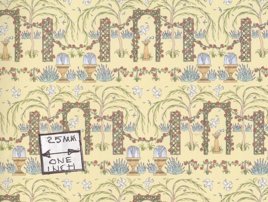 Rose Trellis Wallpaper Jacksons Miniatures Dollhouse 1pc JM48 eBay 898x678
