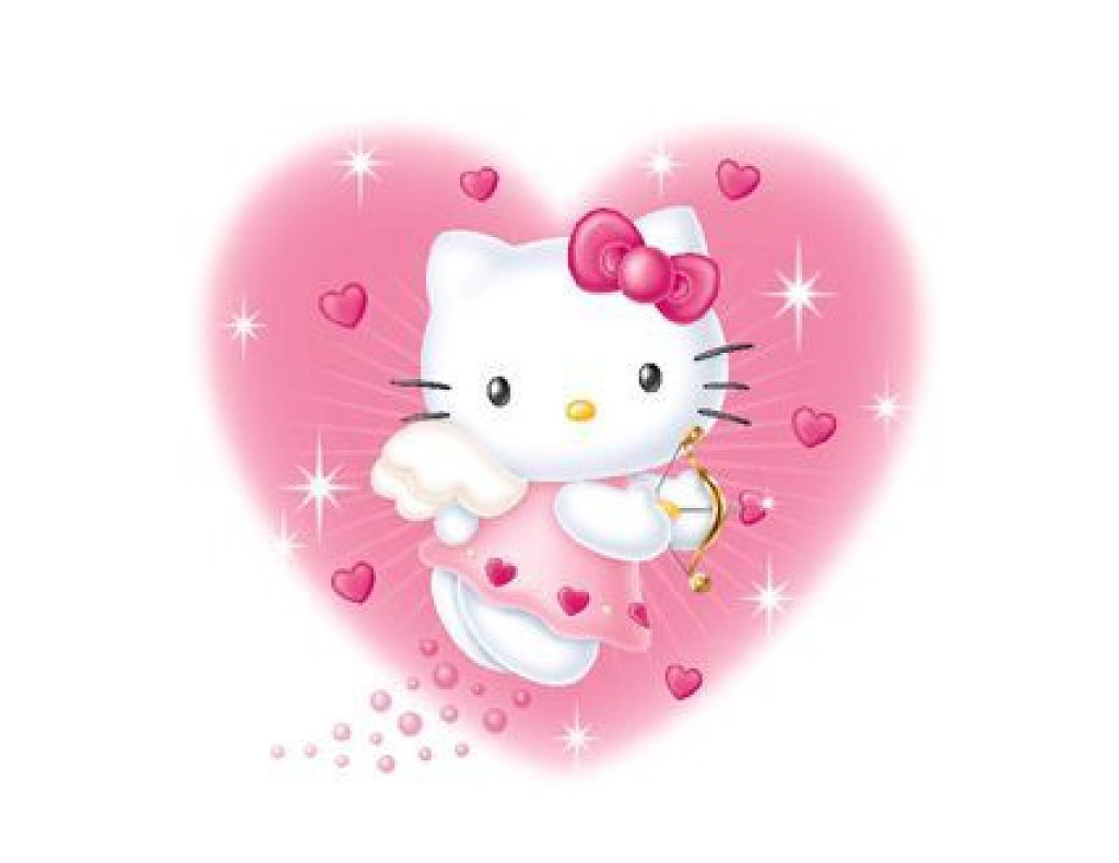 Cute Hello Kitty Wallpaper for screensaver 1024x790
