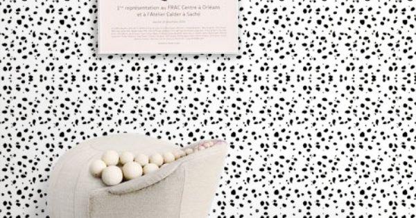 Dalmatian Spot Pattern Peel and Stick Removable Wallpaper M1002 600x315