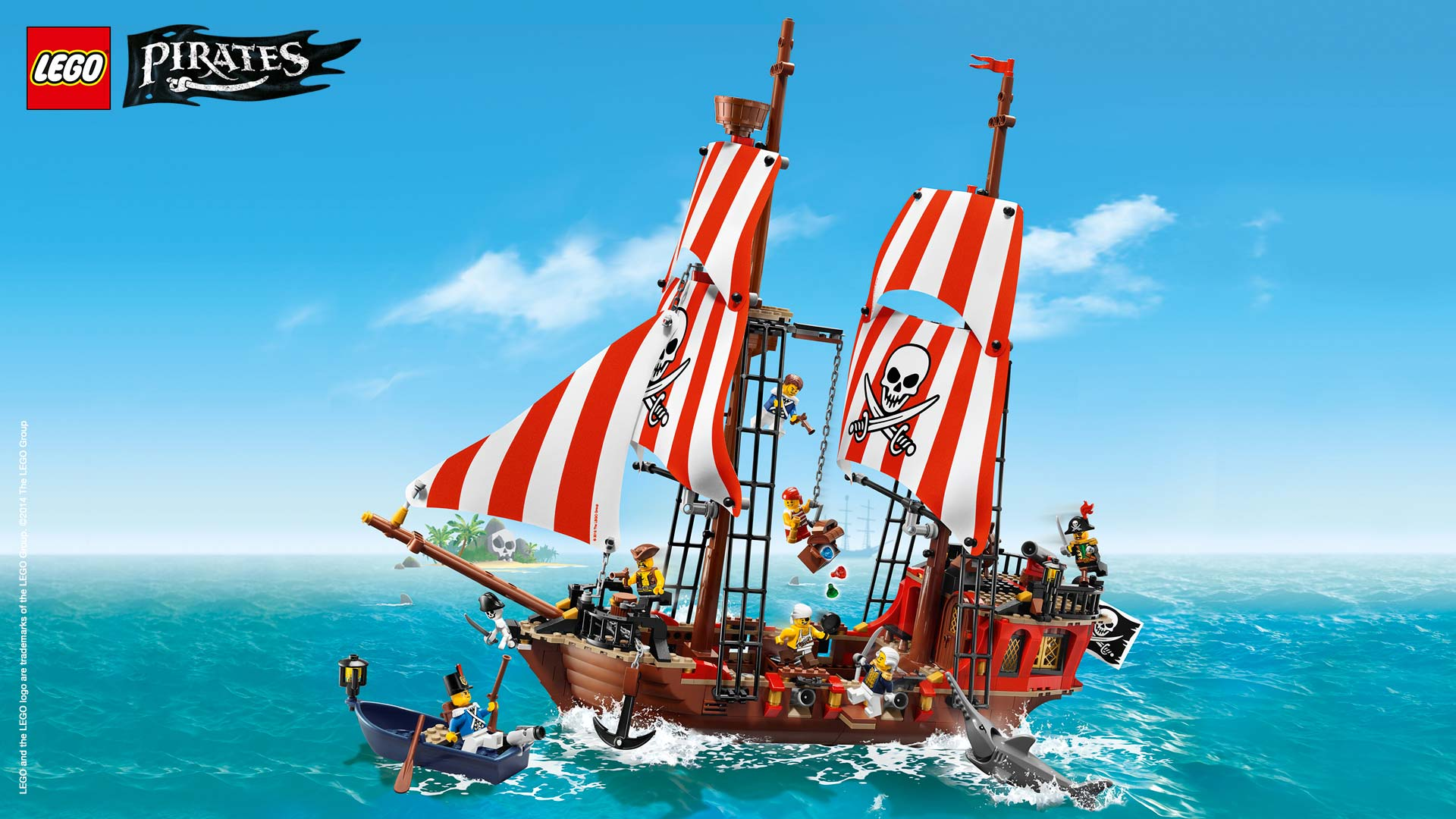 Pirate ship wallpaper   Wallpaper   Activities   LEGO Pirates   LEGO 1920x1080