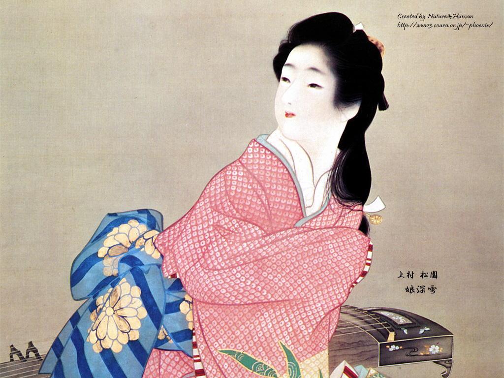 Japanese Art Wallpaper Japanese Style painting   Shouens Yamato e 1024x768
