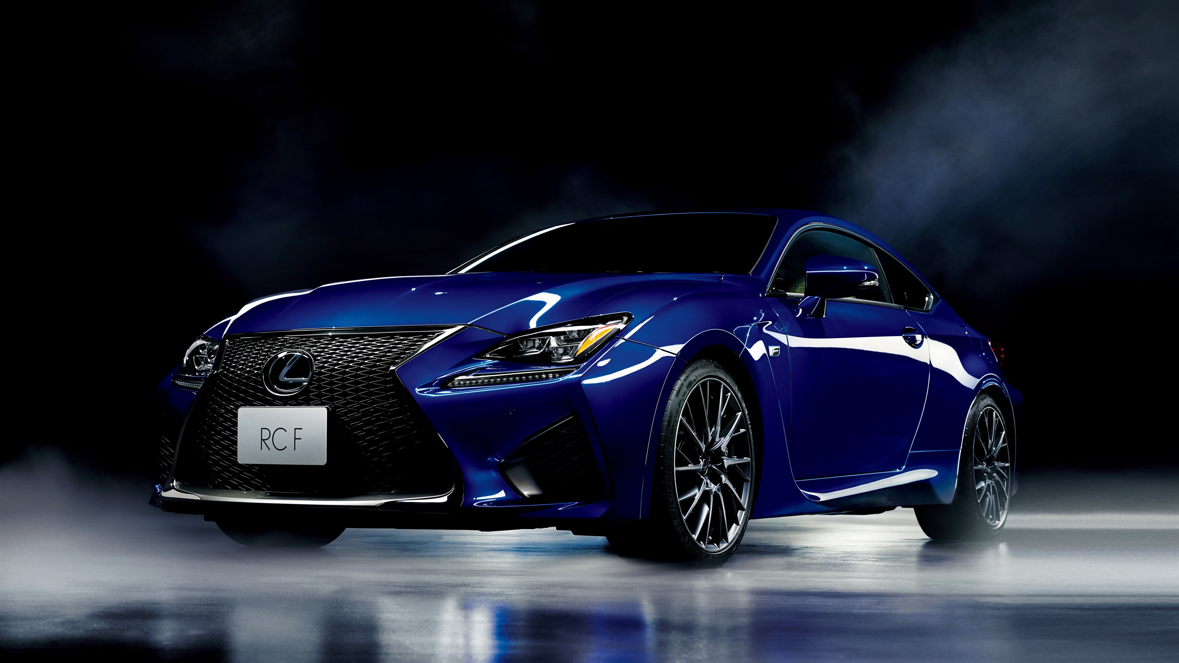 Lexus RC F blue car wallpaper cars Wallpaper Better 3840x2160