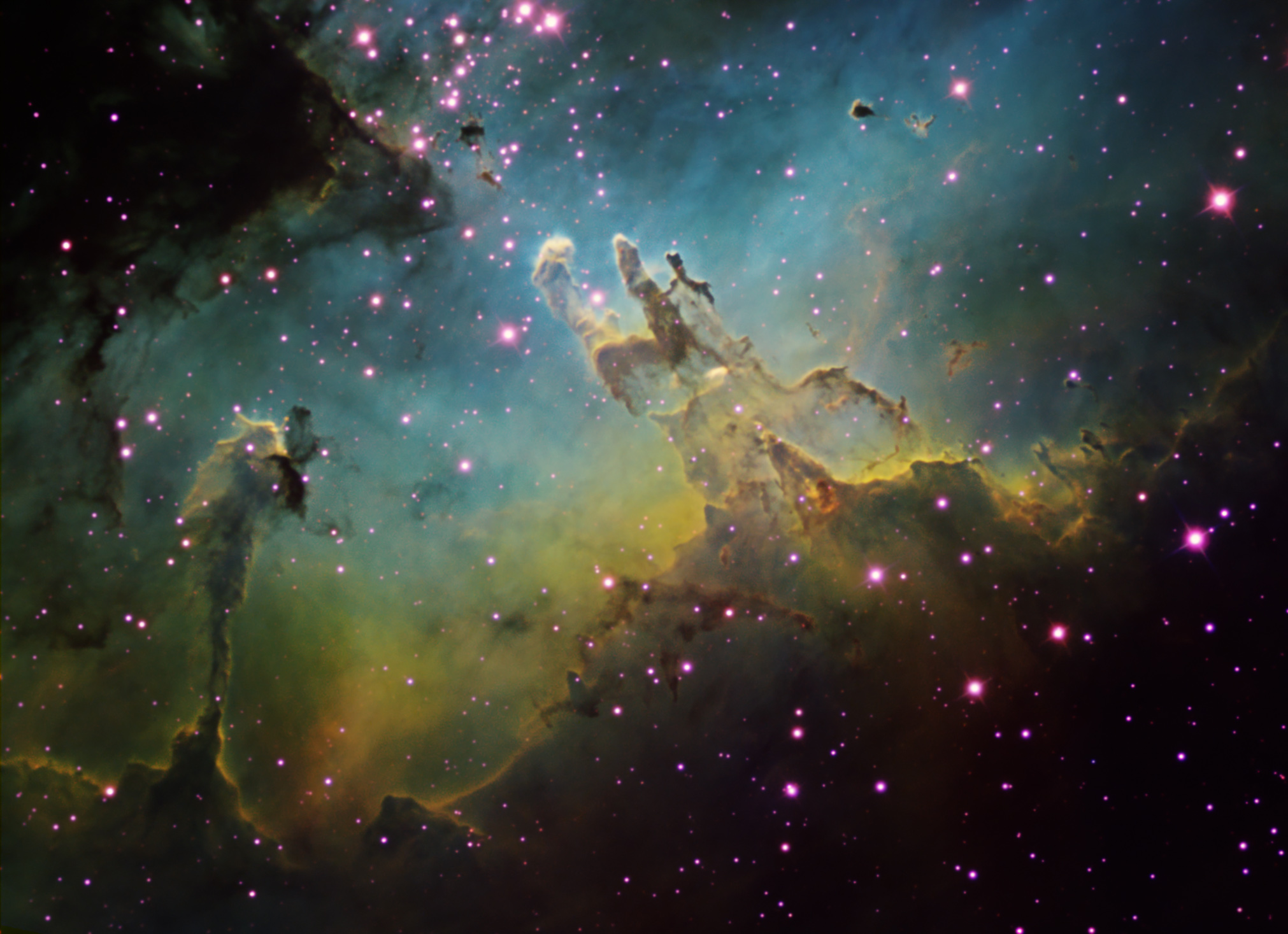 Pillars Of Creation High Resolution M16 by ken crawford with a 2022x1467