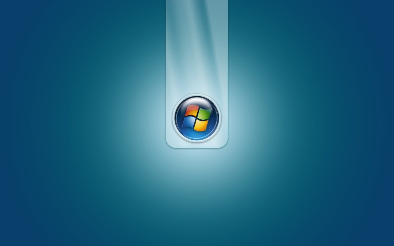 Windows Vista wallpaper donker blauw 1280x800