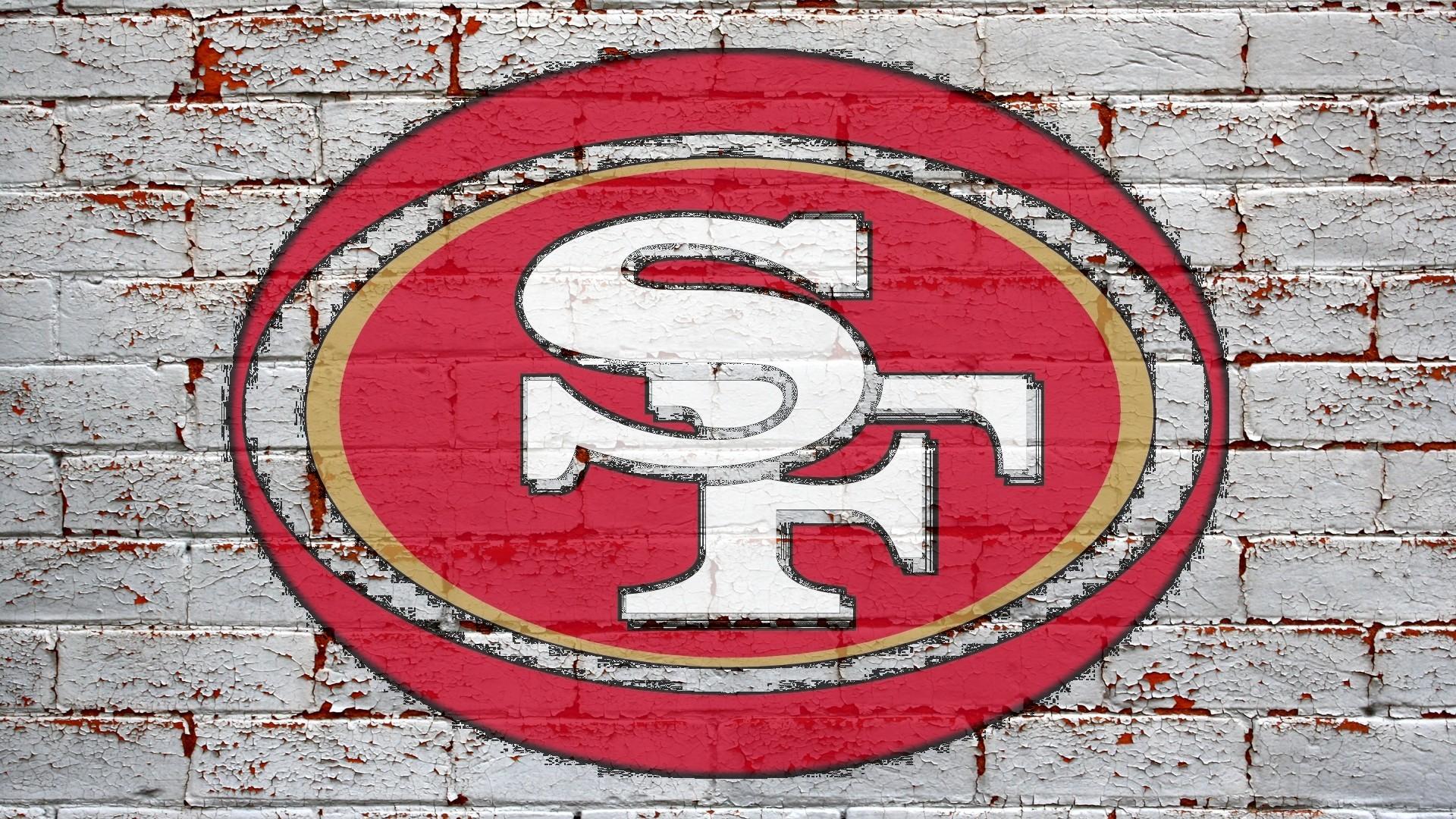 San Francisco 49ers Logo Grey Brick Wall 1920x1080 HD NFL San 1920x1080