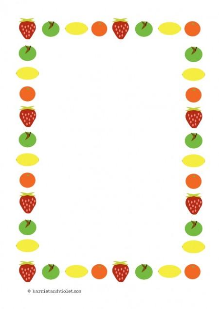 Fruit Page Border Fruit page border paper a4 450x636