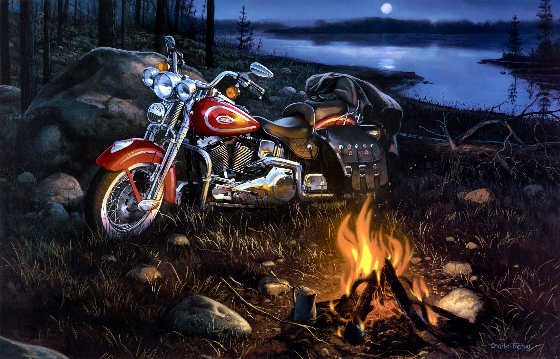 Harley Davidson motorcycle 2220x1426