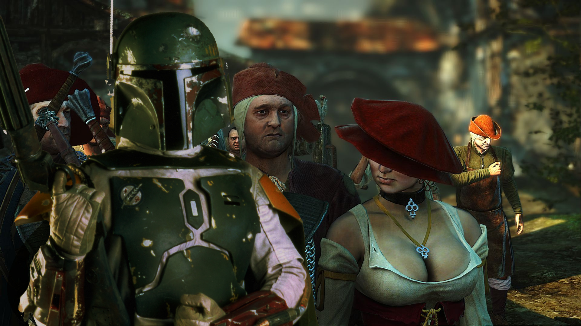 Boba Fett Wallpaper 1920x1080 Boba Fett The Witcher 1920x1080