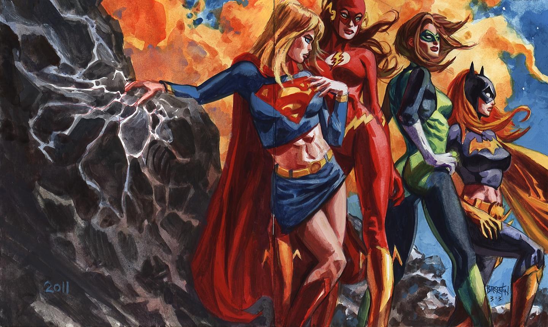 Justice league girls wallpaper wallpapersafari - New 52 wallpaper ...