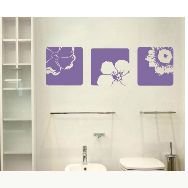 All matching Removable Wallpaper Wall Stickers with Beautiful Flower 600x600