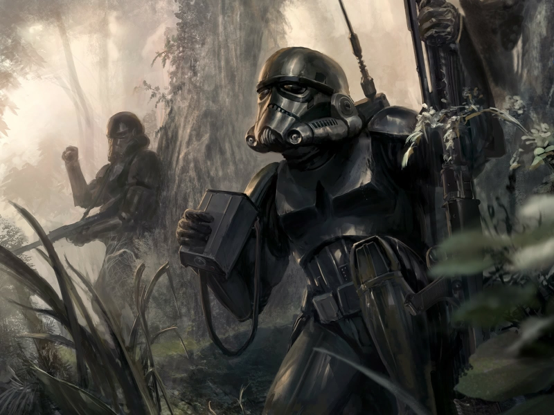 star wars stormtroopers fantasy art artwork 1600x1200 wallpaper 800x600