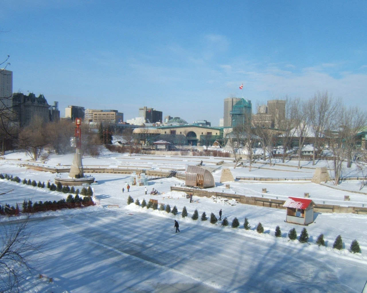 Winnipeg City In Winter Manitoba Canada 1280x1024 pixel City HD 1280x1024