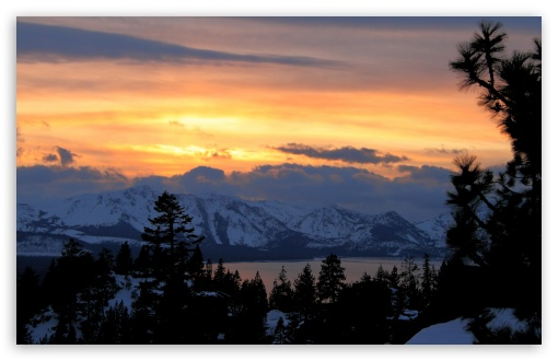Winter Sunset Scene HD wallpaper for Standard 43 54 Fullscreen UXGA 510x330