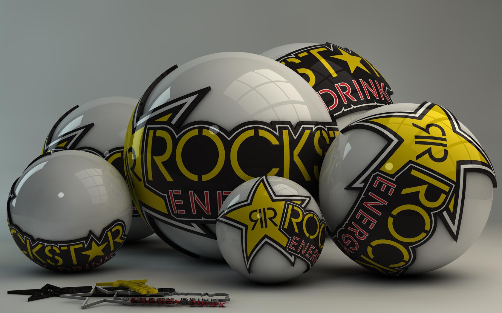 Rockstar Energy Drink Logo Balls by Dracu Teufel666 1680x1050