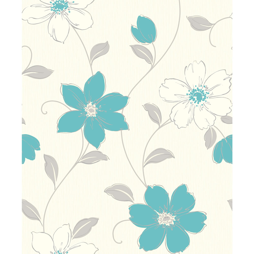 White and teal wallpaper wallpapersafari for White wallpaper uk