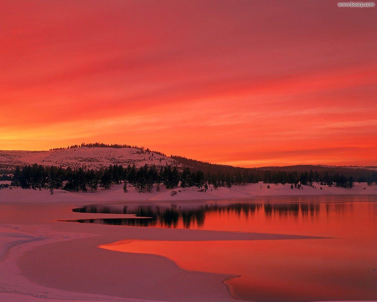 холмы озеро небо закат пейзаж  № 2743203 бесплатно