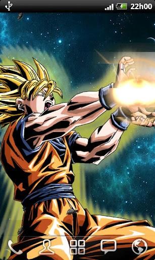 Goku live wallpaper wallpapersafari - Goku kamehameha live wallpaper ...