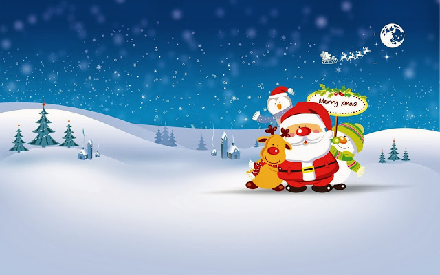 Christmas wallpapers and Christmas backgrounds for your computer 640x400