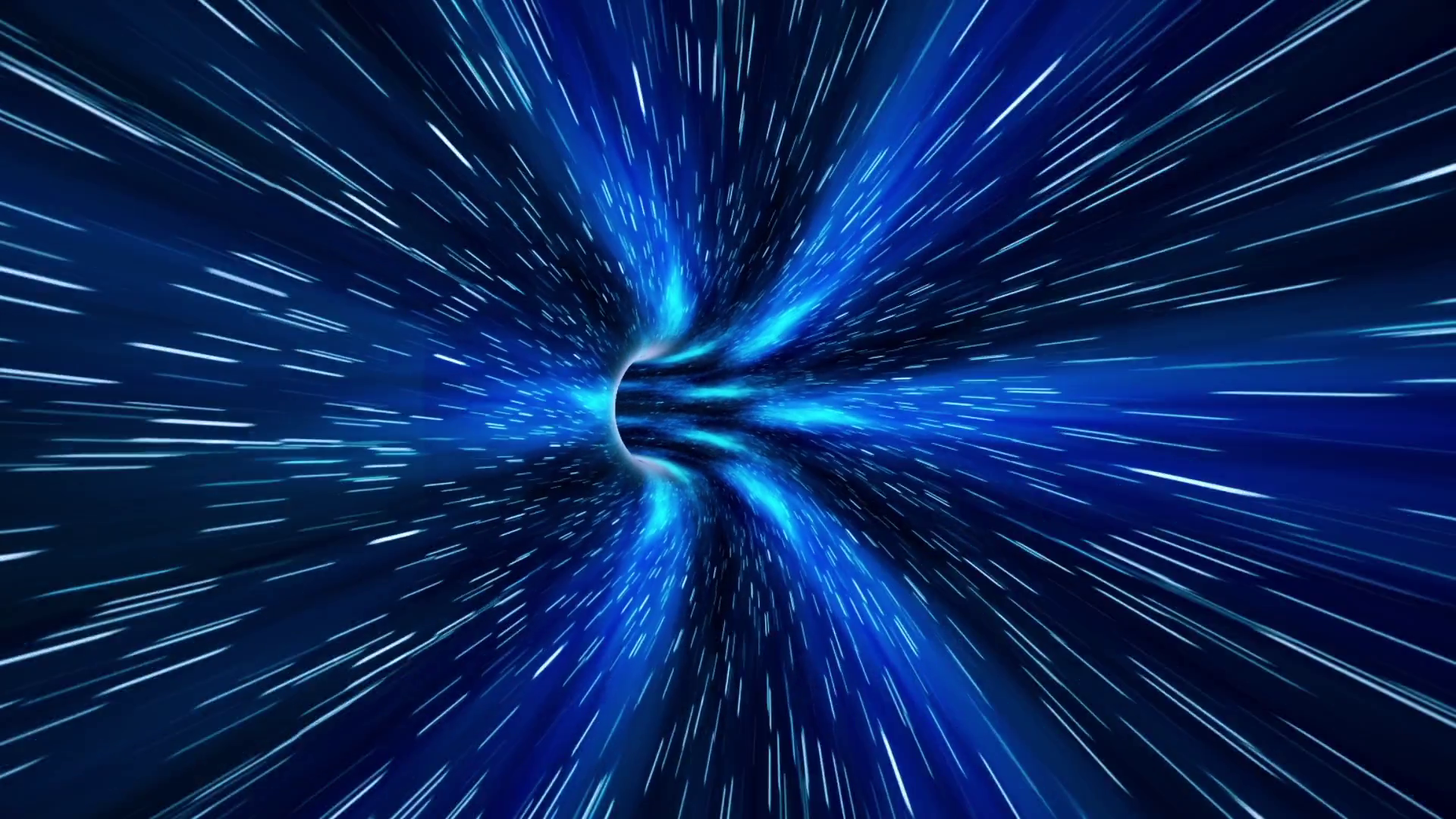 Abstract sci fi Space Wormhole Tunnel Time Travel Loopable Motion 1920x1080